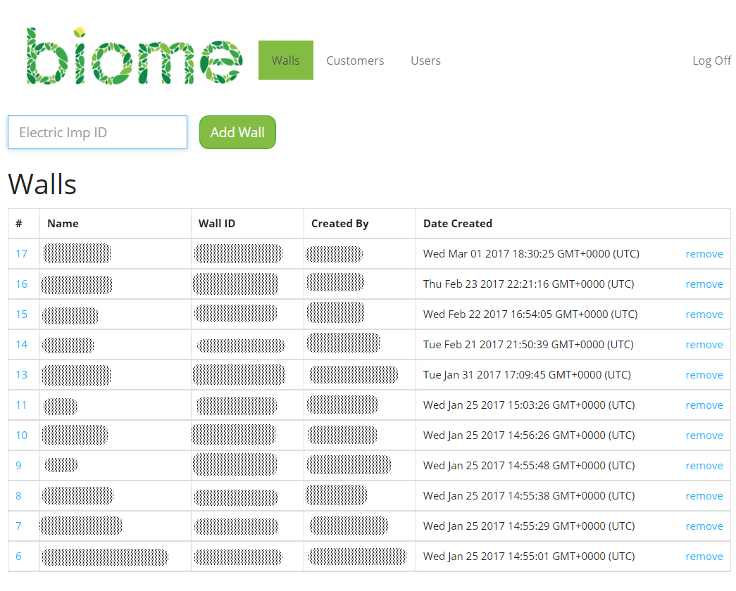 Admin Home Page